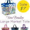 Vera Bradley Large Market Tote Just $7 (Perfect for Gift Giving and Beach Toteing)