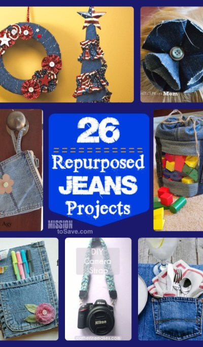 A DIY Roundup of 26 Repurposed Jeans Projects