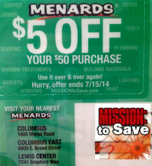 graphic regarding Menard Printable Coupons named Menards 3 Working day Sale: Free of charge Change Flops and Tank Tops - Mission