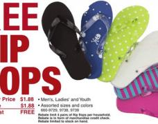 Menards Free Flip Flops