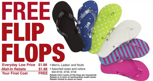 picture regarding Menard Printable Coupons named Menards 3 Working day Sale: Free of charge Change Flops and Tank Tops - Mission