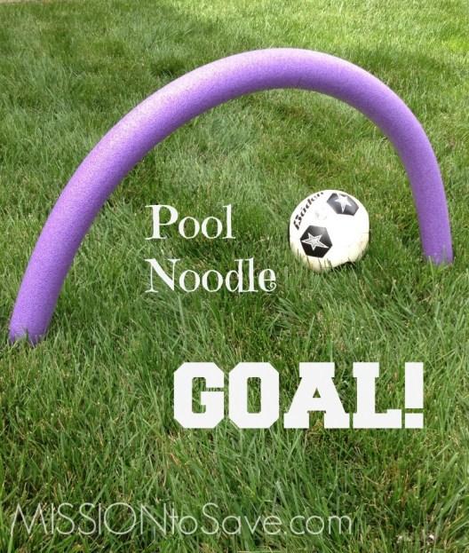 pool noodle soccer goal