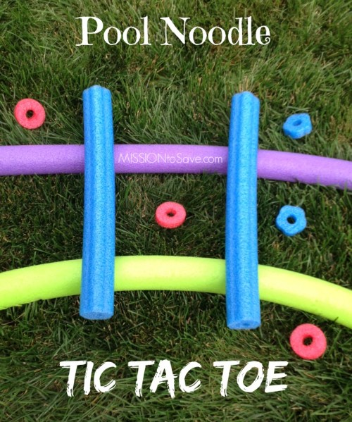 How fun is this Pool Noodle Tic Tac Toe game?! Check out these fun alternative used for pool noodles!