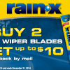 RainX Wiper Blades Rebate Offer- Up to $10 back on 2