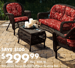 Big Lots Savannah 4-Piece Seating Set #GoBig #spon