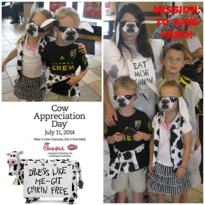 One of my fave days of the year. Chick-fil-A Cow Appreciation Day 2014!