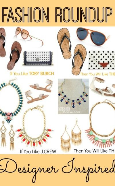 Check out these fab designer inspired discount fashion finds! Fashion Roundup of J.Crew and Tory Burch look-a-likes