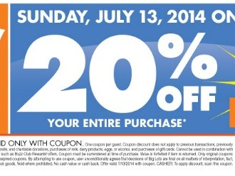 Big Lots 20% off coupon for this weekend, 7/12-13/14.jpg
