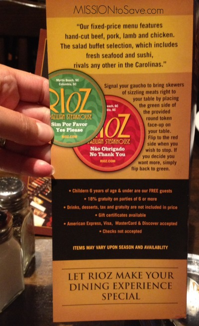 photograph regarding Rioz Brazilian Steakhouse Printable Coupons named Rioz Brazilian Steakhouse Myrtle Beach front- Significance the Splurge