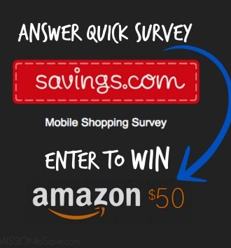 Savings.com Survey + Giveaway