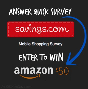 Savings.com Survey + Giveaway