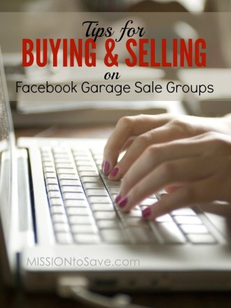 Snag a deal or make some money, right from your computer. Check out my Tips for Buying and Selling on Facebook Garage Sale Groups.