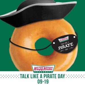 free krispy kreme talk like a pirate day 2014