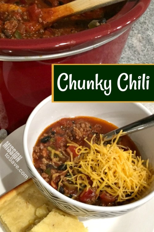 Check out my Chunky Crockpot Chili Recipe. It's a family fave! Perfect for cold nights and bowl games!