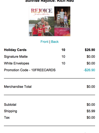 10 Free Holiday Cards from Tiny Prints (just pay shipping)