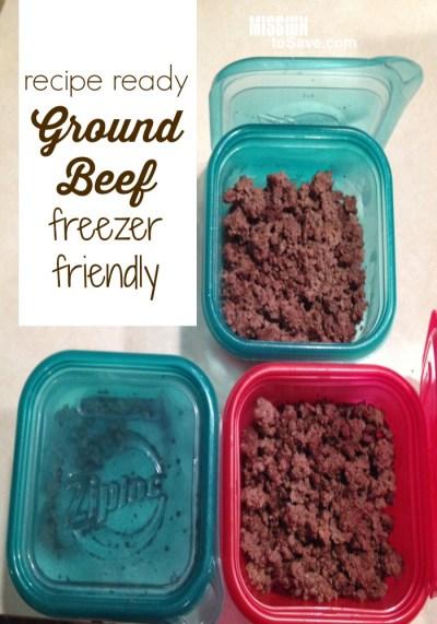 freezer friendly ground beef