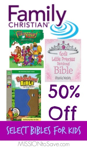 50 Off Bibles for Kids