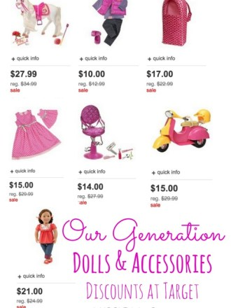Our Generation Dolls & Accessories Discounts at Target. There more affordable items do fit American Girl Dolls!