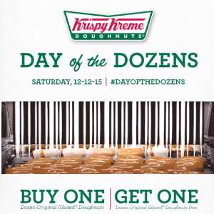 Krispy Kreme Day of the Dozens, Krispy Kreme Coupon