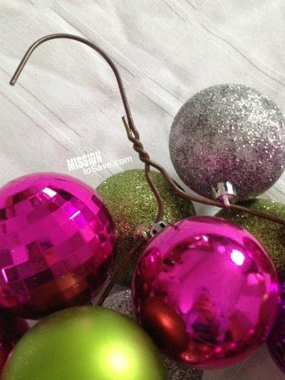 ornament wreath on a hanger