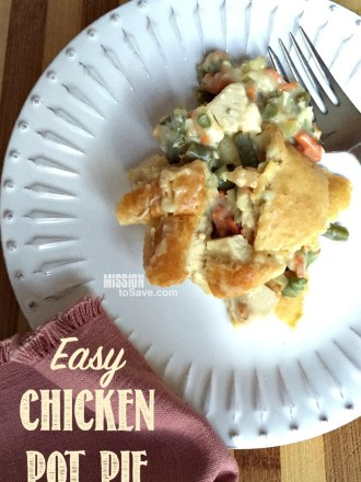 Make this Easy Chicken Pot Pie Recipe tonight! It's so yummy and you can pack it full of veggies too.
