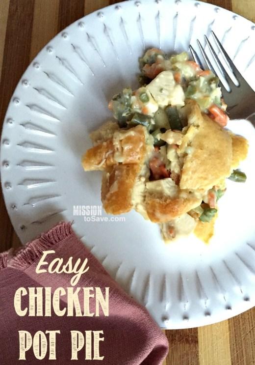 Homemade Chicken Pot Pie on plate