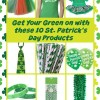 Celebrate with St. Patrick's Day Products – Get Your Green On!