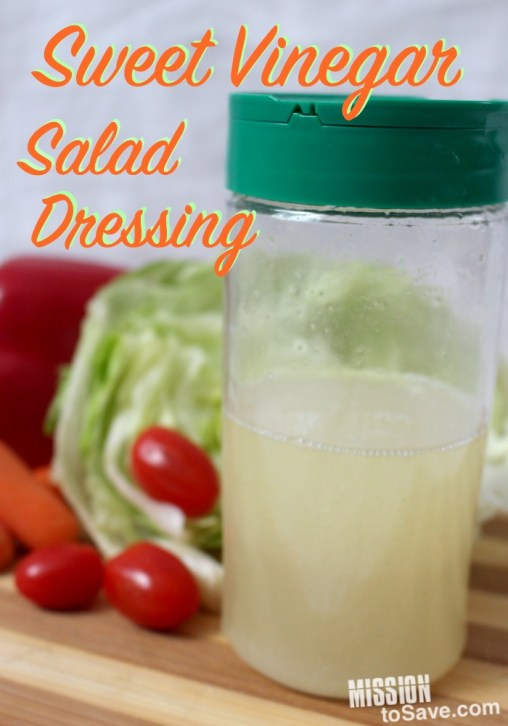 This Sweet Vinegar Salad Dressing is perfect in many recipes.