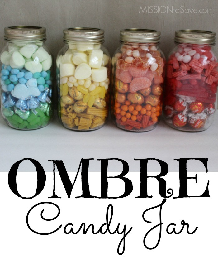 Pretty Ombre Candy Jar Makes A Perfect Diy Gift Idea Mission To Save