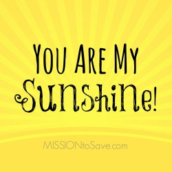 Free Printable You Are My Sunshine Gift Tags