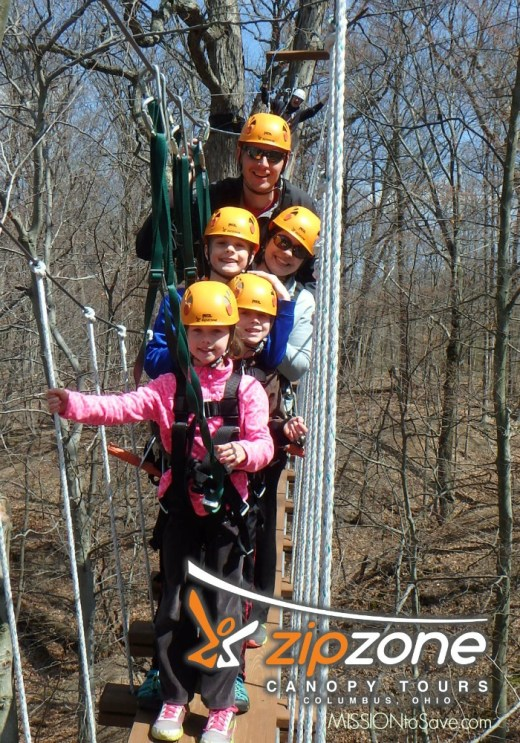 High flying family fun at ZipZone Canopy Tours in Columbus OHIO