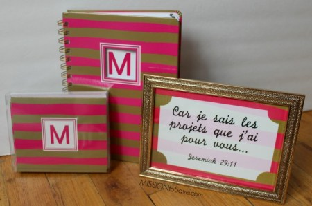 monogrammed stationery and matching Framable Print