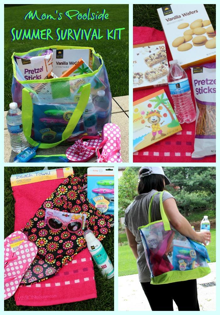 Mom's Poolside Summer Survival Kit Collage