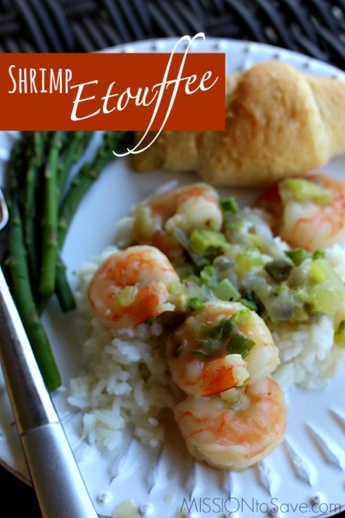 """Try this simple Shrimp Etouffee recipe. It is a """"northern-ised"""" verstion of a Creole classic- with just enough Cajun """"oo-ee""""!"""