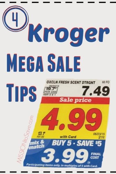 Kroger Mega Sale Tips