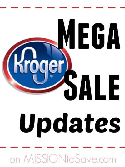Kroger Mega Sale Updates