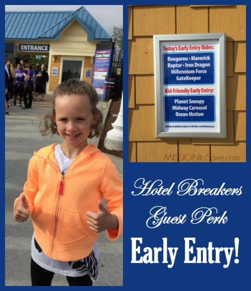 Cedar Point Early Entry for Hotel Breakers Guests