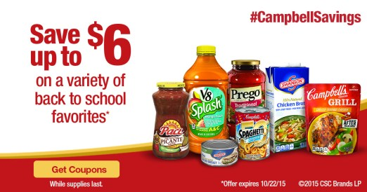 Back to School Savings from Campbell's