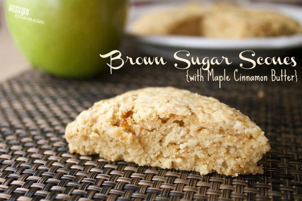 Brown Sugar Scones with Maple Cinnamon Butter