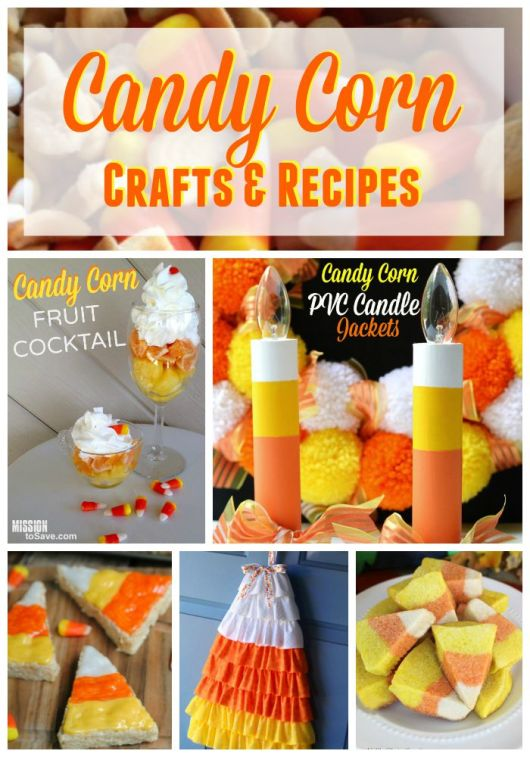 See this list of Candy Corn Crafts and Candy Corn Recipes. Great ideas for this classic fall candy..