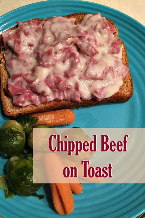 Chipped Beef on Toast - Comfort Food