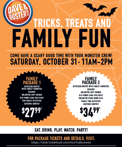 Dave & Buster's Family Halloween Event