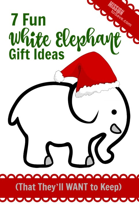 7 Fun White Elephant Gift Ideas for you holiday get together. These gifts are sure to bring the laughs and they might actually want to keep them!