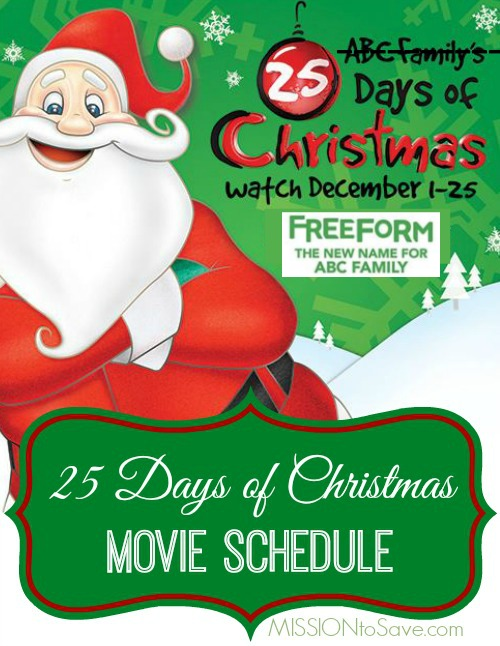 freeform-25-day-of-christmas-movie-schedule