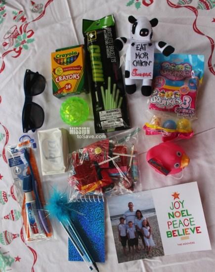 Operation Christmas Child Shoebox Items
