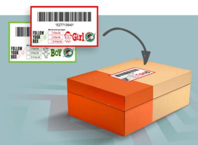OCC Shoebox tracking label