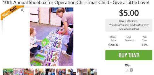 OCC Shoebox $5 Donation