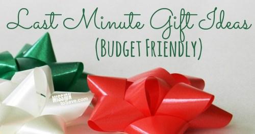 Last Minute Gift Ideas - Budget Friendly