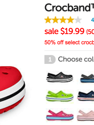 50% Off Crocbands