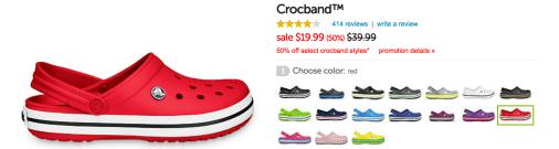 50% Off Crocbands